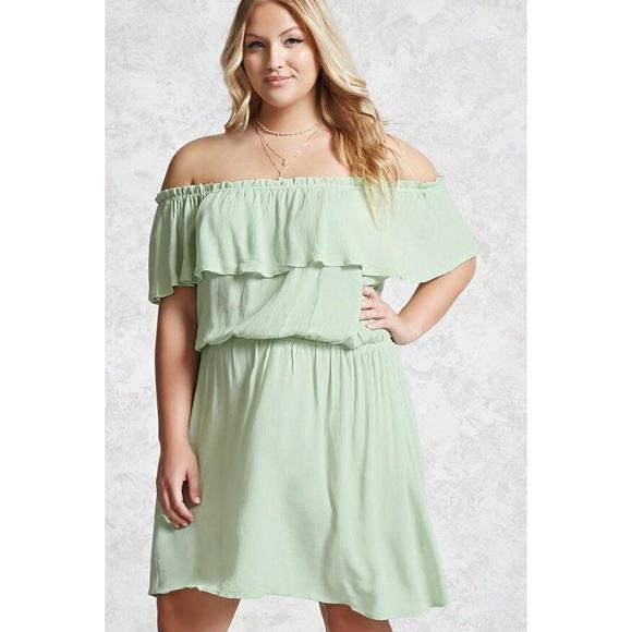 Forever 21 Dresses | Plus Size Crinkled Gauze Dress | Poshmark